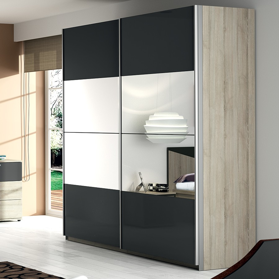 meuble avec porte coulissante. Black Bedroom Furniture Sets. Home Design Ideas