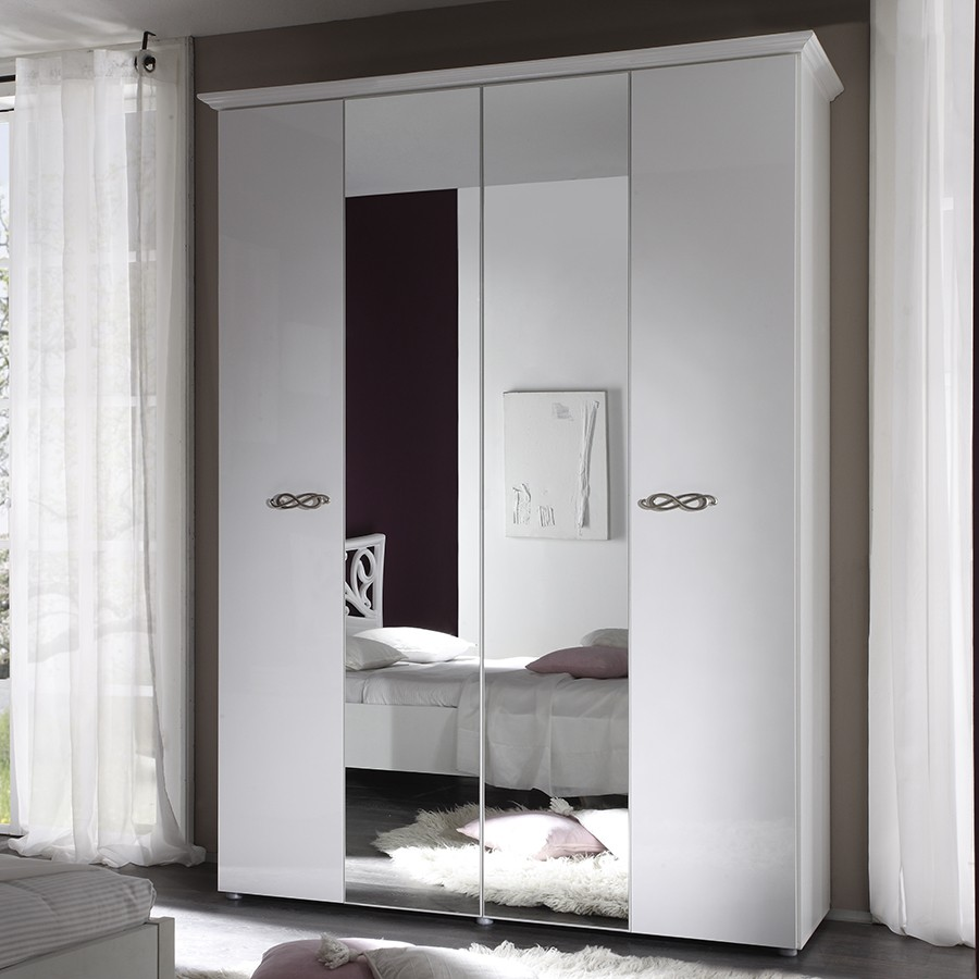Armoire design blanche infinity zd1 arm a d - Armoire blanche laquee ...