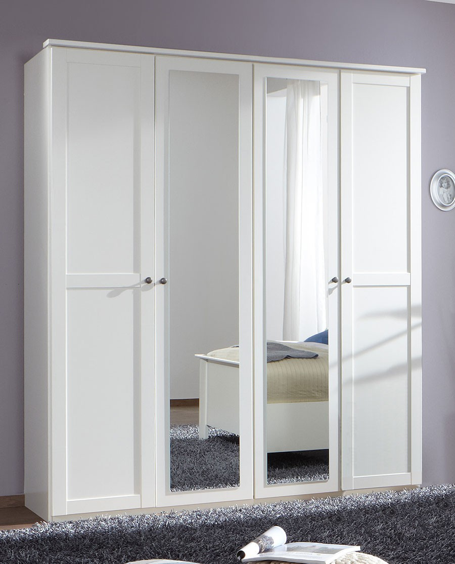 armoire moderne blanc avoriaz. Black Bedroom Furniture Sets. Home Design Ideas