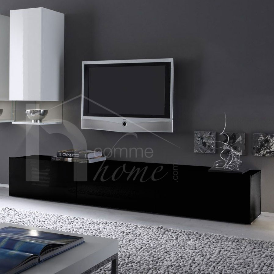 banc tv design laque blanc madere solutions pour la. Black Bedroom Furniture Sets. Home Design Ideas