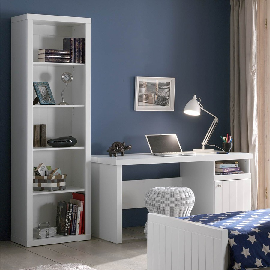 Bibliotheque contemporaine blanche robinson zd1 m biblio e for Bibliotheque contemporaine laquee design