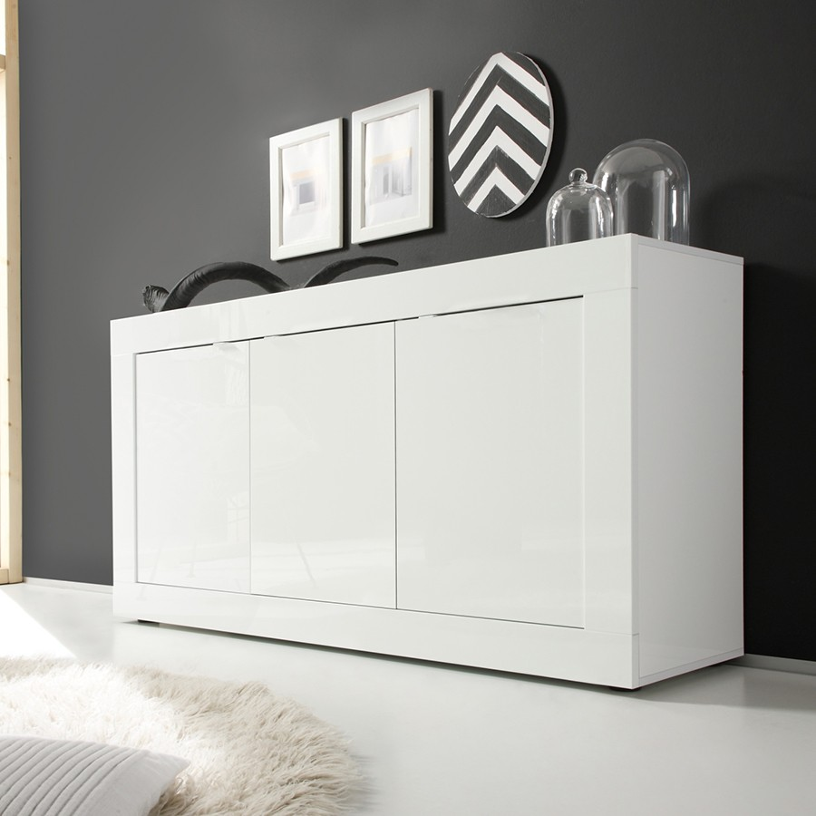 bahut blanc laque. Black Bedroom Furniture Sets. Home Design Ideas