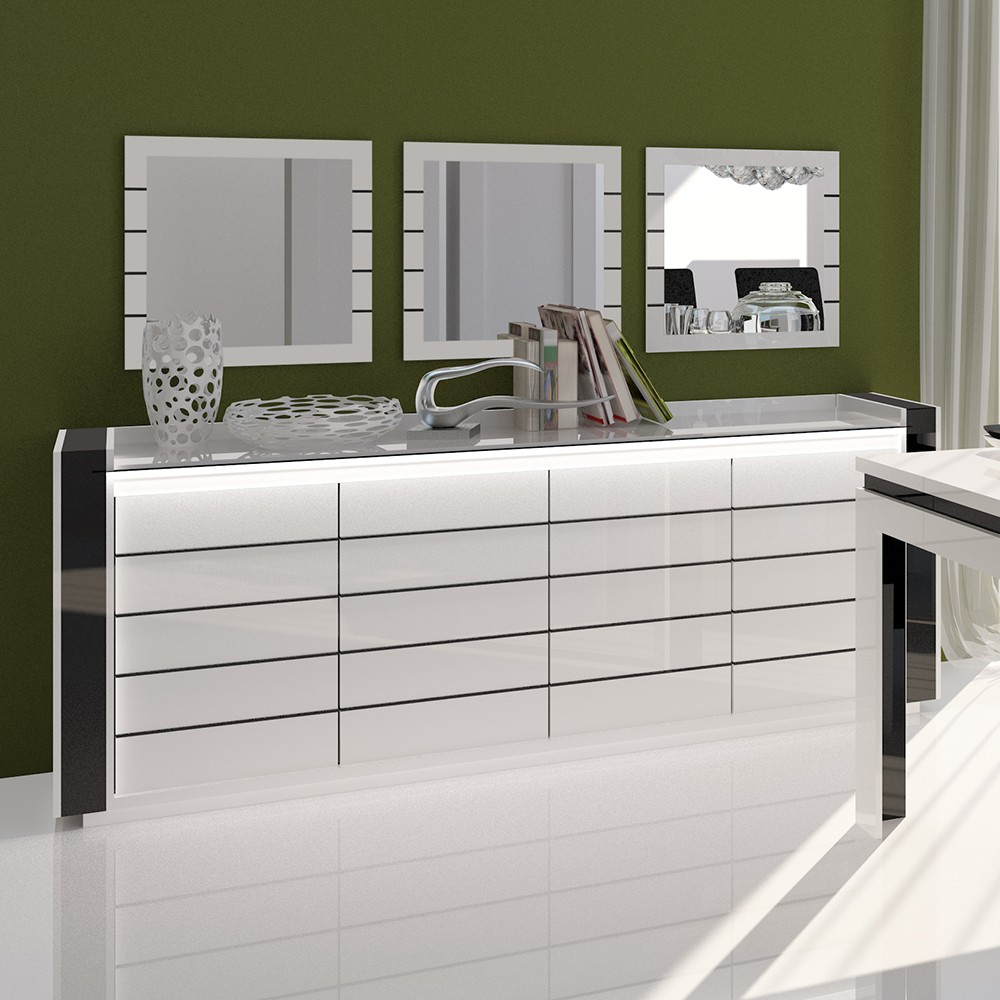 Buffet bahut gallery of buffet design italien tendance design table manger inside meuble bahut - Bahut haut blanc ...