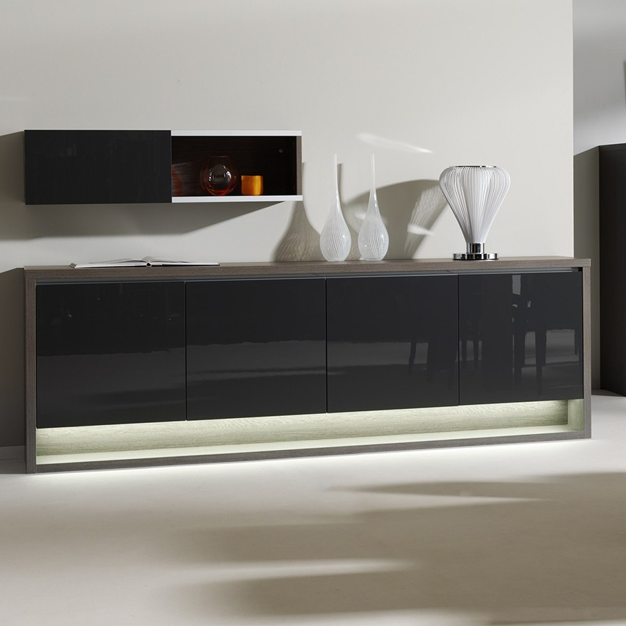 Wonderful meuble d entree avec miroir 7 buffet for Miroir noir download