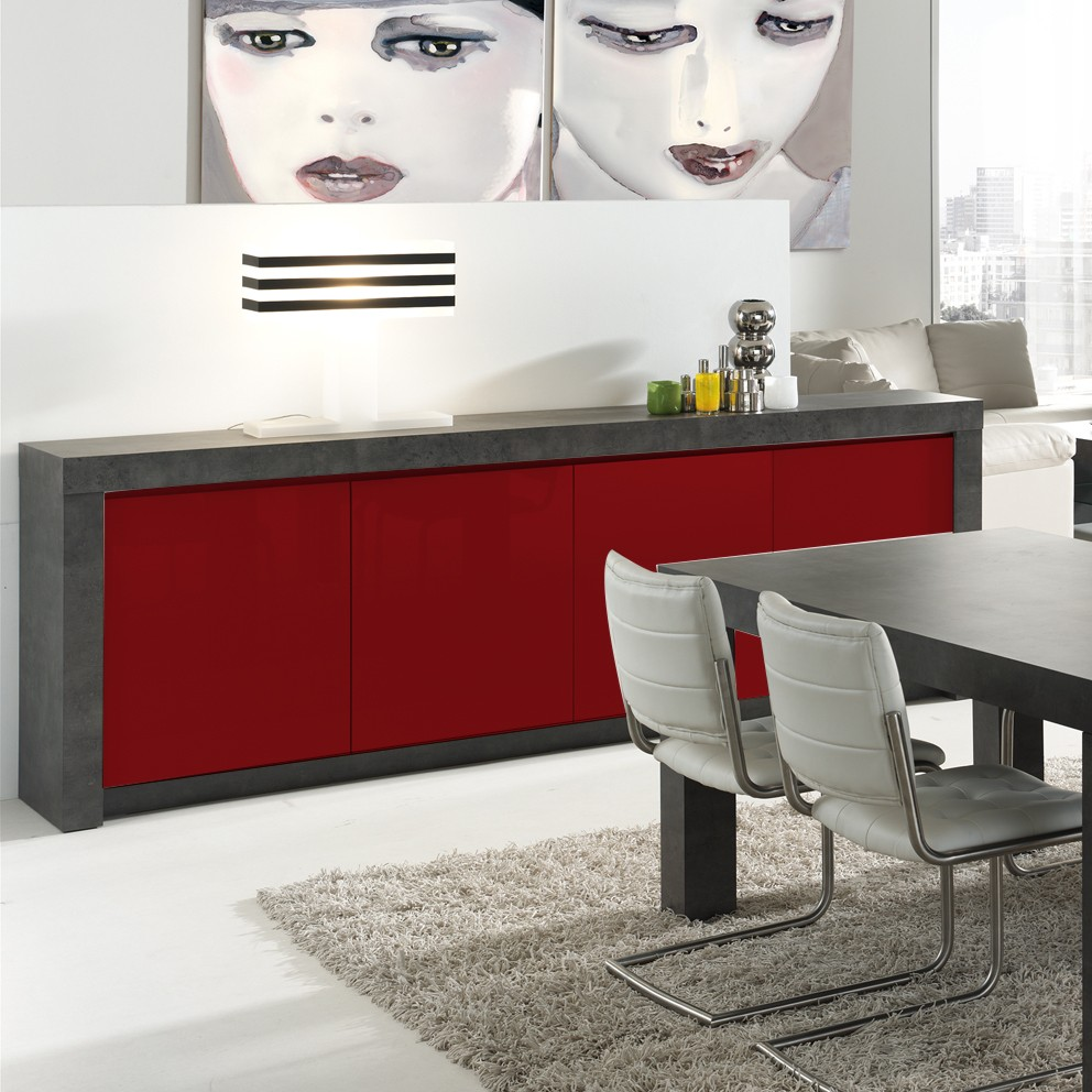 meuble rouge laque. Black Bedroom Furniture Sets. Home Design Ideas
