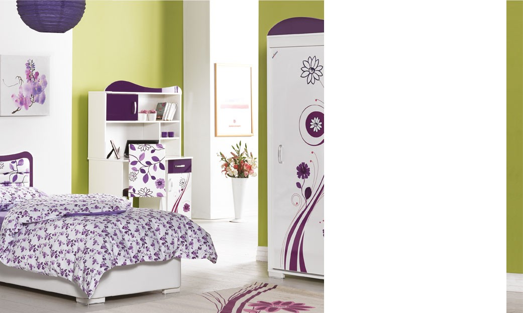 chambre fille mauve et blanc pr l vement d 39 chantillons et une bonne id e de. Black Bedroom Furniture Sets. Home Design Ideas