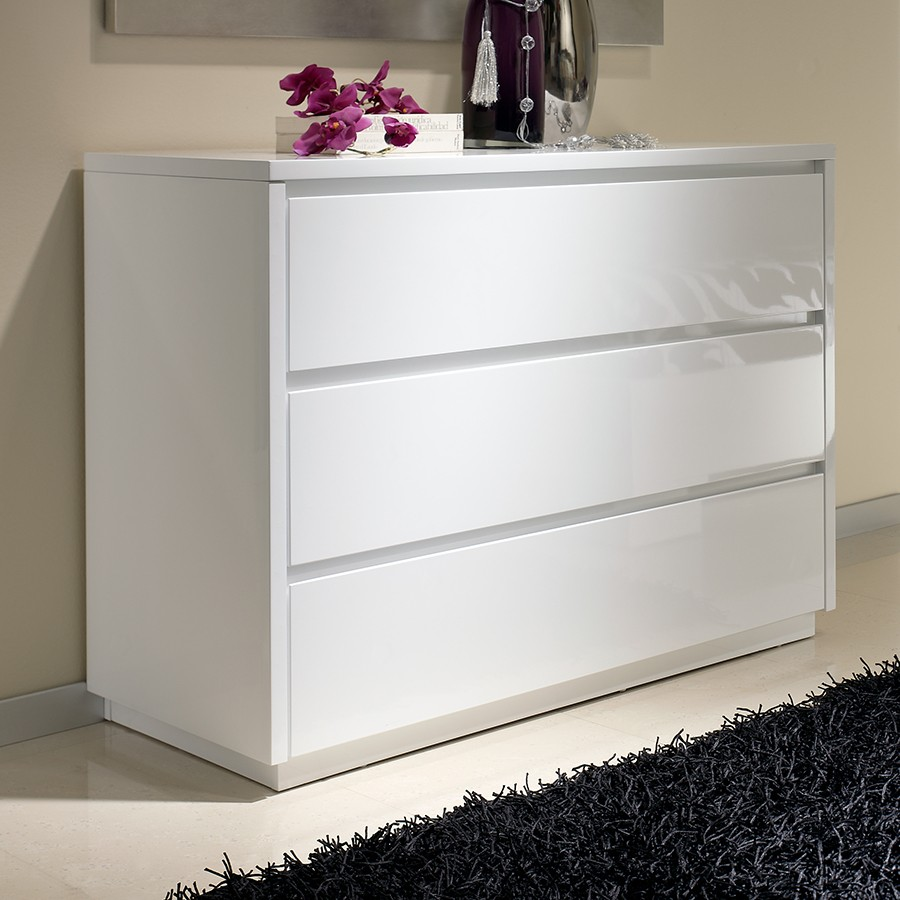 Commode 3 tiroirs design blanche tobia zd1 comod a d - Commode contemporaine laquee ...