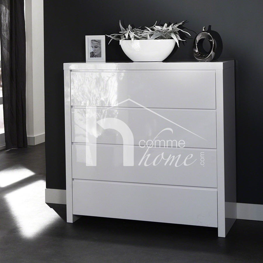 Commode design meuble - Commode haute blanche ...
