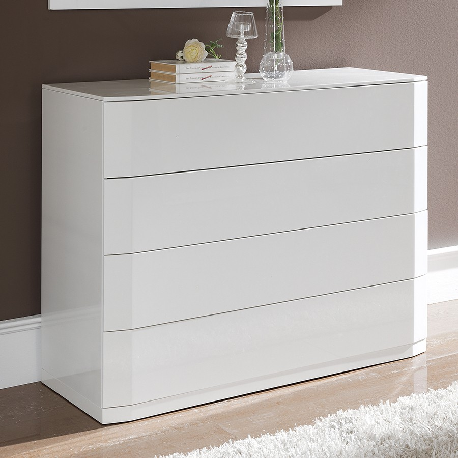 Commode blanc laque for Commode chambre design