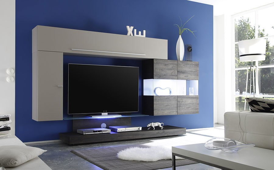 Ensemble tv mural contemporain jessica zd1 ens m c - Ensemble tv mural laque ...