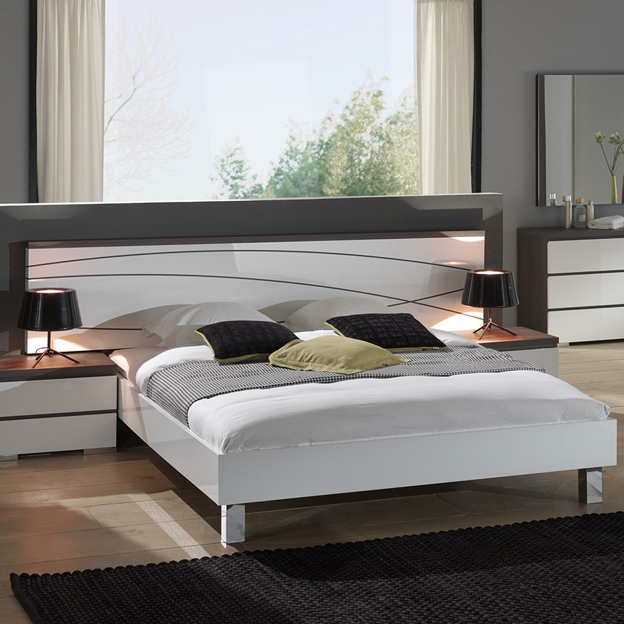 lit adulte bois blanc maison design. Black Bedroom Furniture Sets. Home Design Ideas