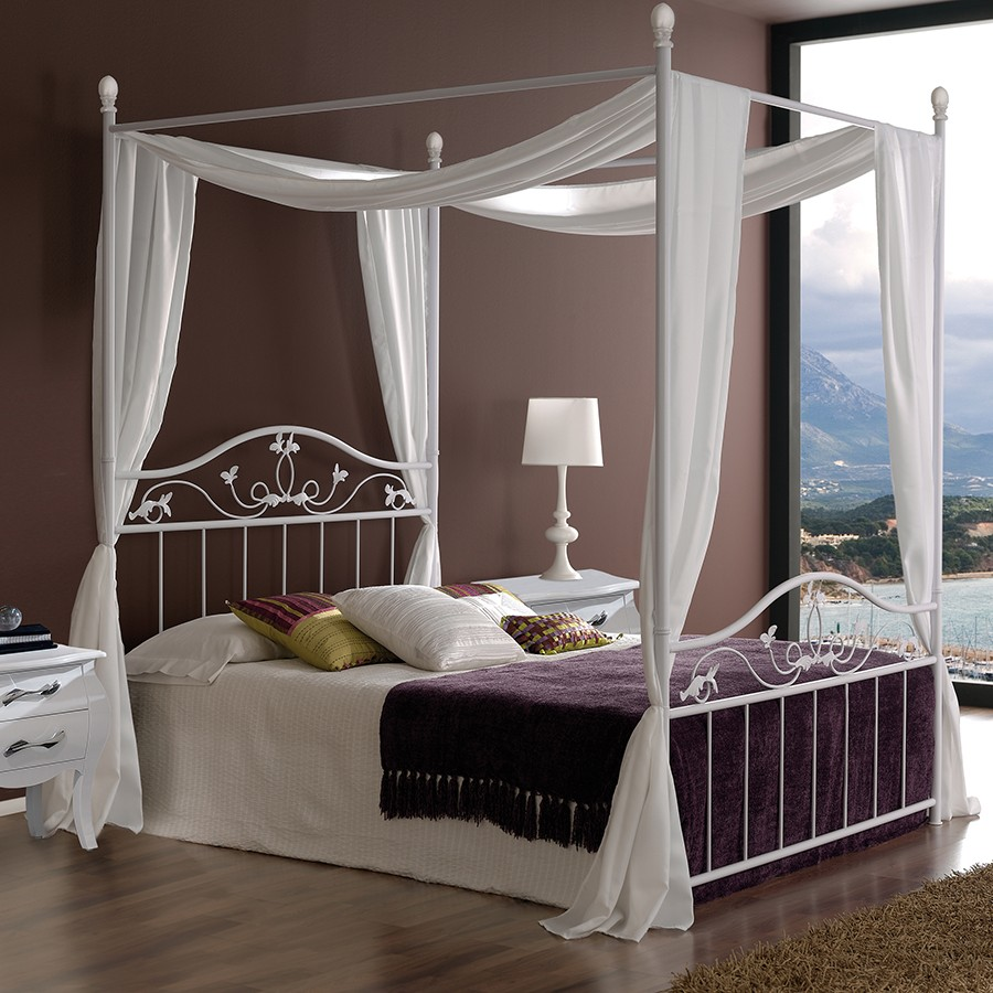 lit baldaquin bois fer romantique accueil design et mobilier. Black Bedroom Furniture Sets. Home Design Ideas