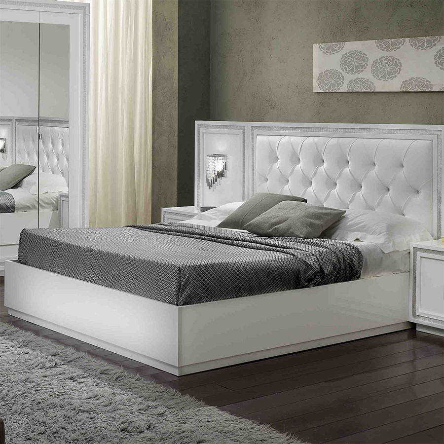 tete de lit blanc strass. Black Bedroom Furniture Sets. Home Design Ideas
