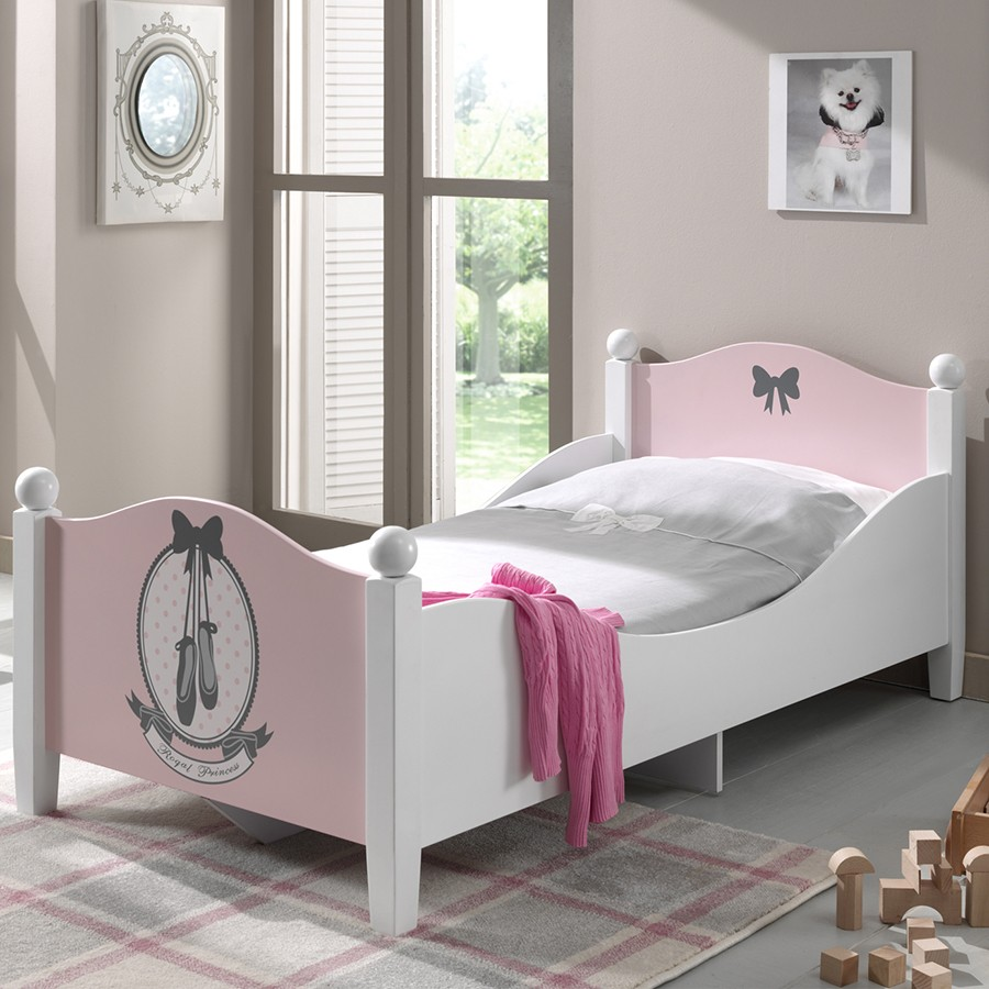 lit enfant rose. Black Bedroom Furniture Sets. Home Design Ideas