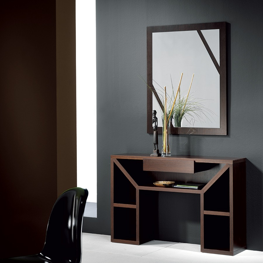 Meuble d entree contemporain wenge karta zd1 meu dentr for Miroir design entree