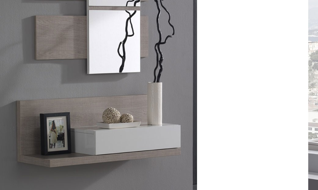 meuble d 39 entr e avec miroir contemporain ingres. Black Bedroom Furniture Sets. Home Design Ideas
