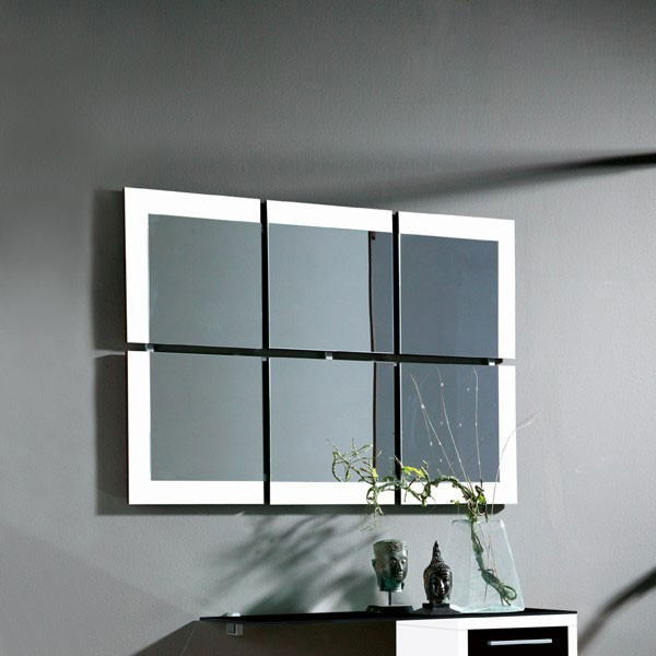 meuble entree miroir blanc noir leonardo zd1 meu dentr. Black Bedroom Furniture Sets. Home Design Ideas