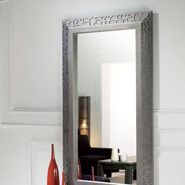 Miroir entree contemporain for Soldes miroir contemporain