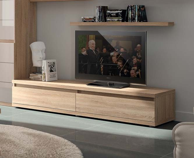 Meuble tv contemporain bryo2 zd1 mtv c - Meuble tv couleur chene ...