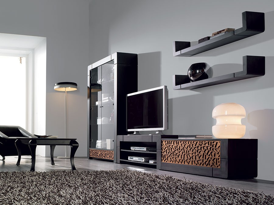 meuble tv avec rangement hoze home. Black Bedroom Furniture Sets. Home Design Ideas