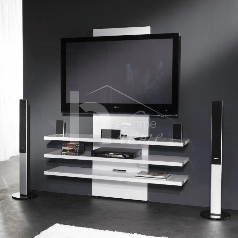 meuble tv blanc pas cher. Black Bedroom Furniture Sets. Home Design Ideas