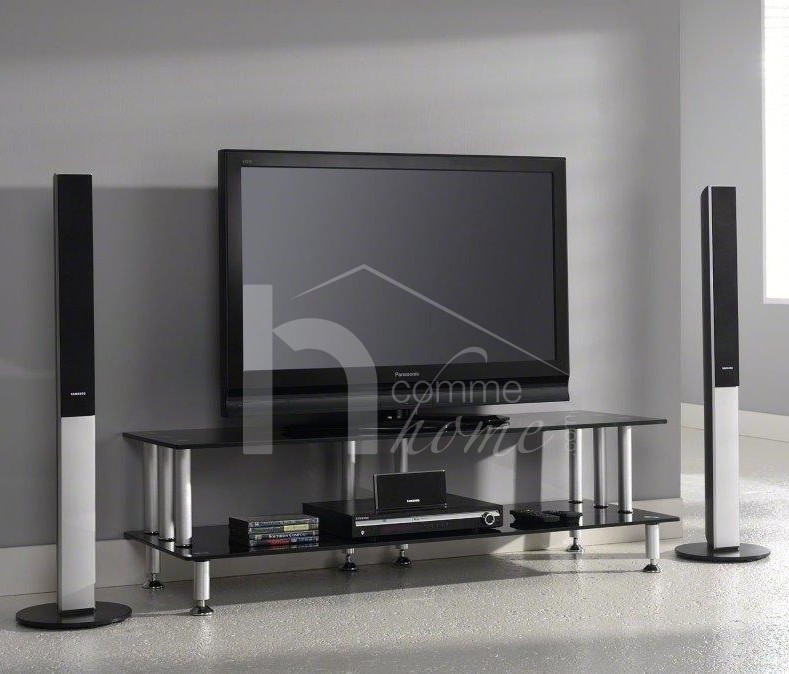 Meuble tv design verre solutions pour la d coration for Meuble tv en verre design