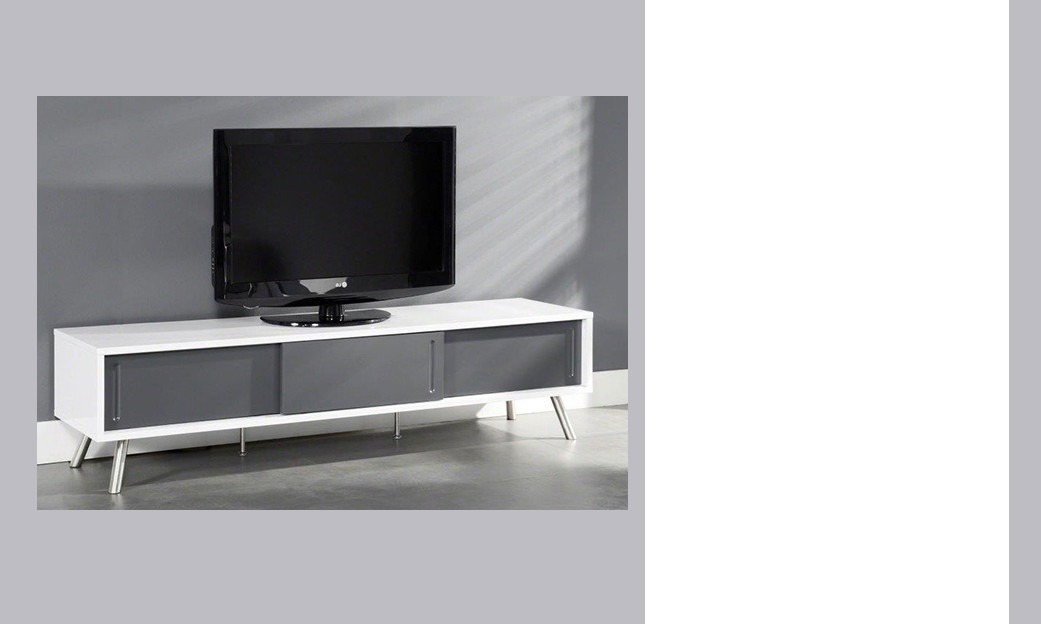 meuble tv laque gris fly solutions pour la d coration. Black Bedroom Furniture Sets. Home Design Ideas