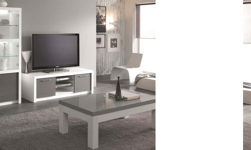 meuble tv laque gris maison design. Black Bedroom Furniture Sets. Home Design Ideas
