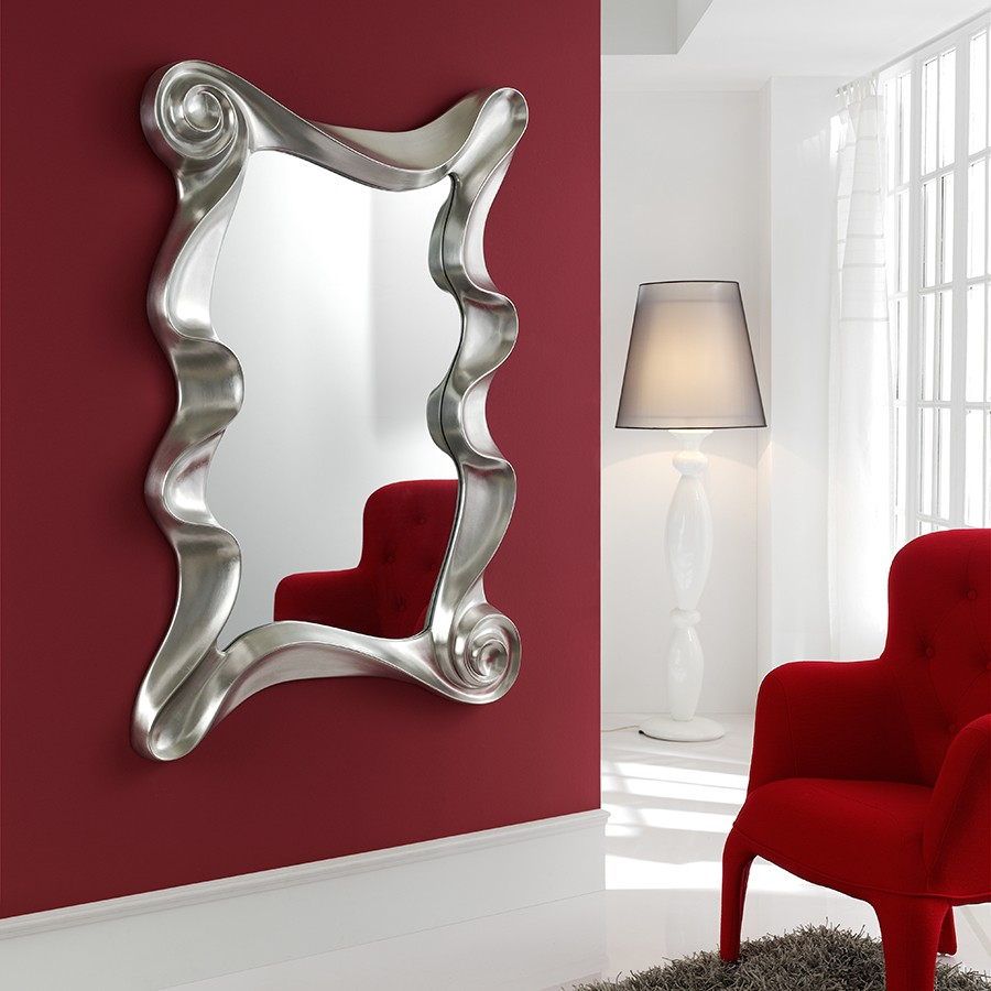 miroir mural design laque blanc orta zd1 mir d. Black Bedroom Furniture Sets. Home Design Ideas