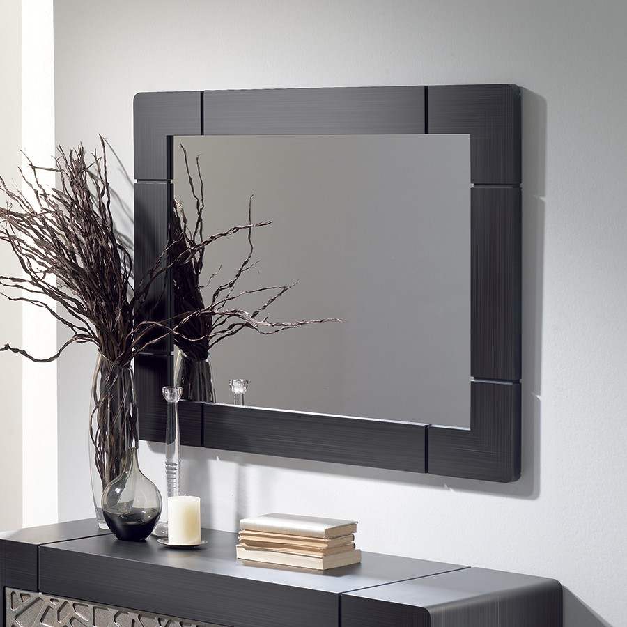 Decoration miroir mural maison design for Soldes miroir contemporain