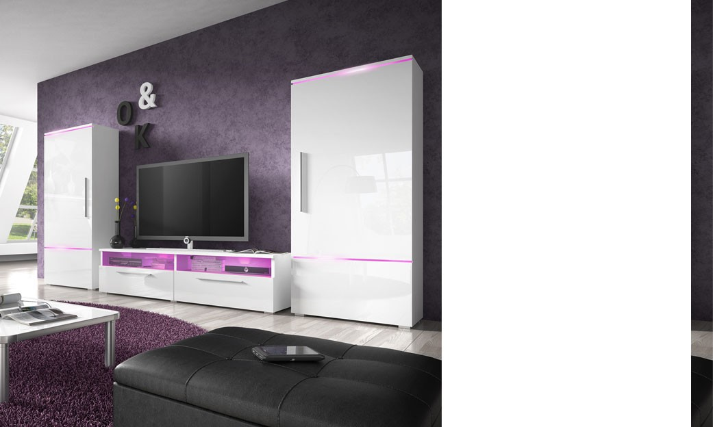 pin mur tv laqu blanc on pinterest. Black Bedroom Furniture Sets. Home Design Ideas