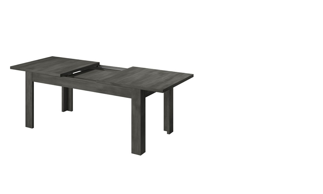 table de salle manger avec rallonge couleur ch ne noir contemporaine purgia 2. Black Bedroom Furniture Sets. Home Design Ideas