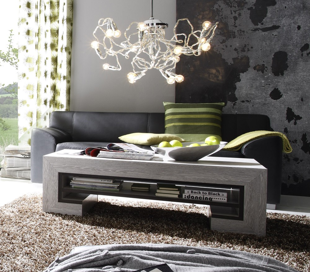 table basse contemporaine chene gris. Black Bedroom Furniture Sets. Home Design Ideas
