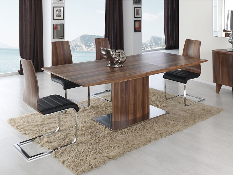 table contemporaine en noyer