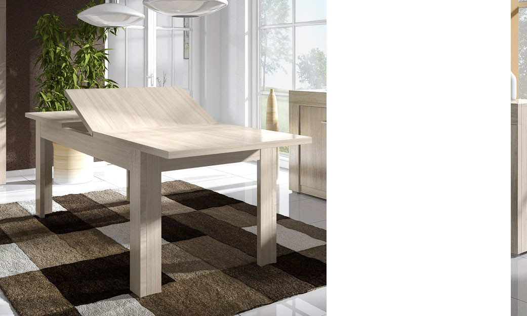 Table contemporaine avec rallonge for Table de salle a manger contemporaine avec rallonge