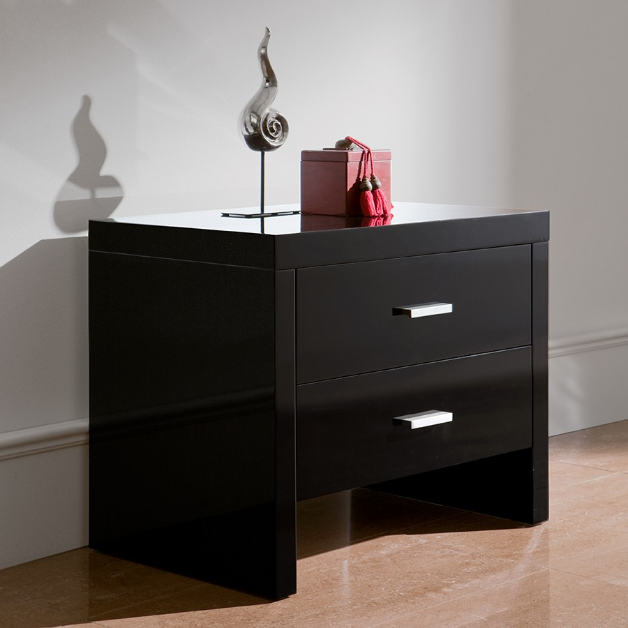 table de chevet noir laque. Black Bedroom Furniture Sets. Home Design Ideas