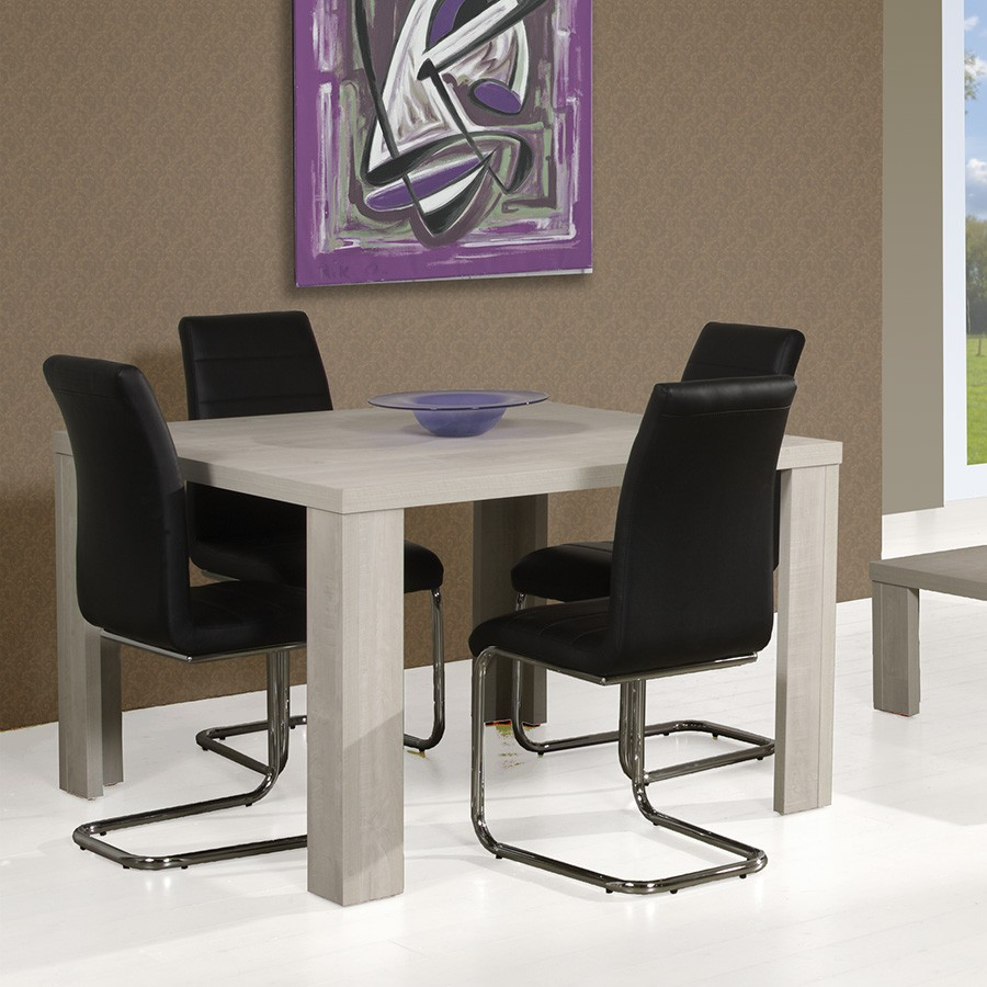 Table salle manger carree contemporaine for Solde table salle a manger