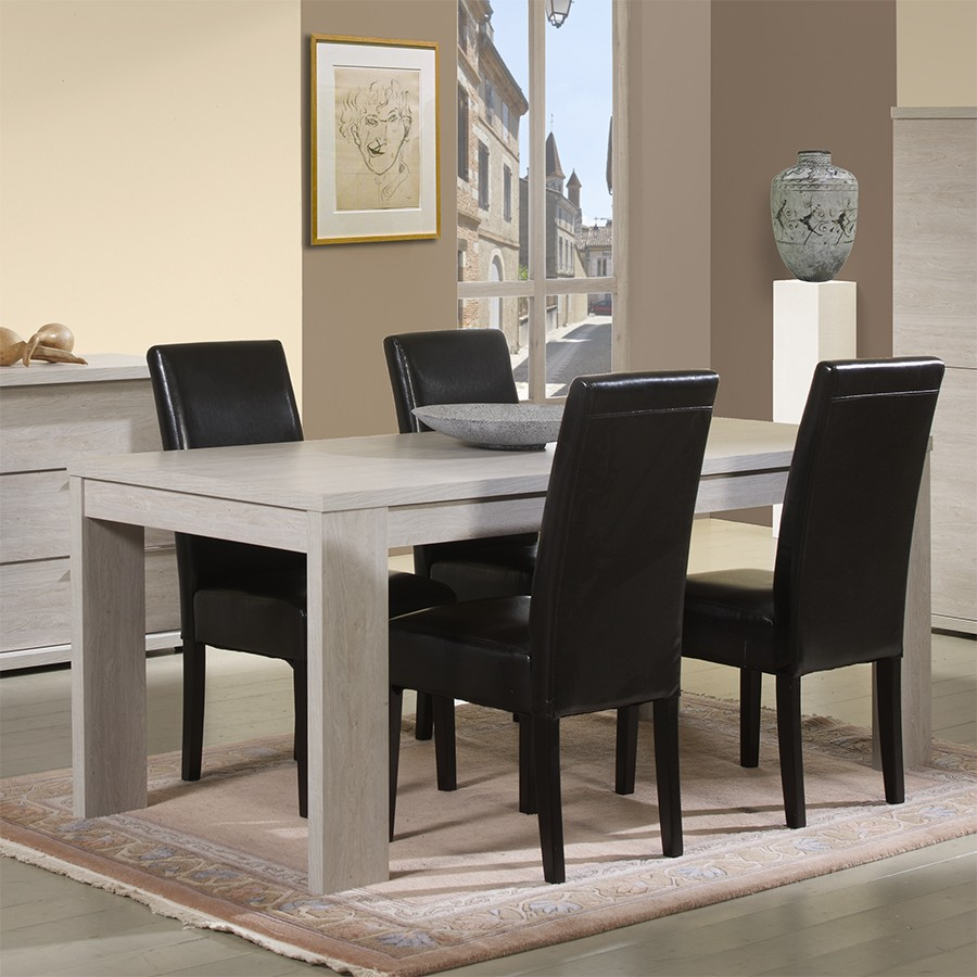 Table de salle a manger contemporaine belfast zd1 tab r c for Table salle a manger rallonges integrees
