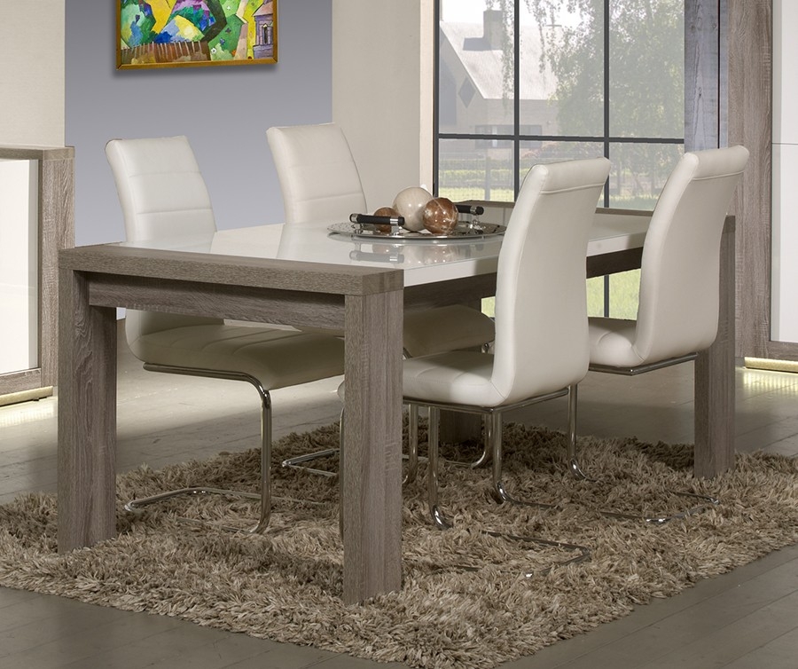 Table contemporaine rectangulaire - Table de salle a manger contemporaine ...