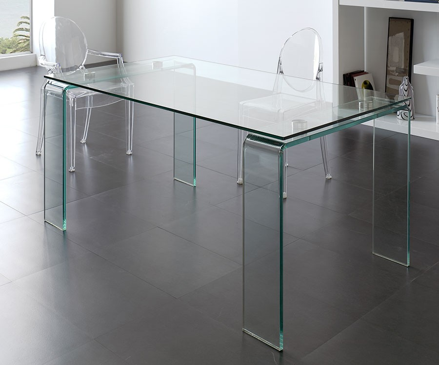Table design verre hyalin zd1 tab r d - Table en verre de salle a manger ...