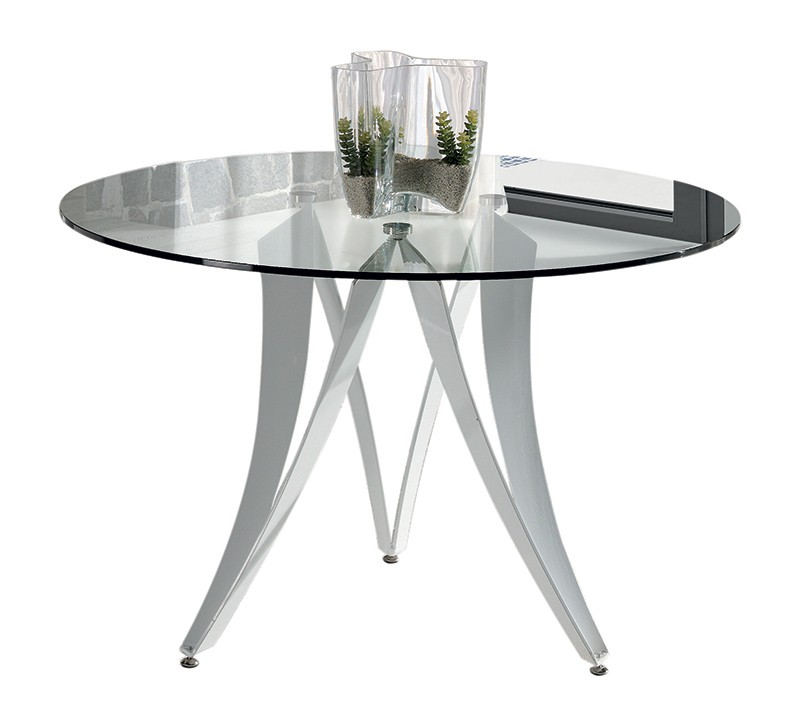 Table ronde verre design laize zd1 tab rd d for Salle a manger ronde