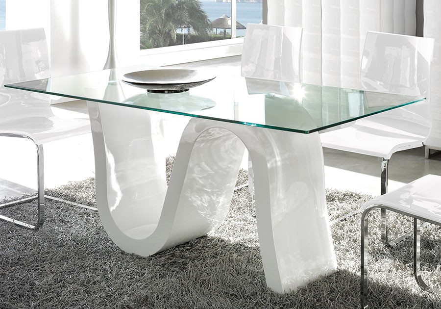 Table verre design corona zd1 tab r d for Salle a manger italienne design