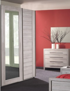 Armoire adulte contemporaine 2 portes VICTORIA