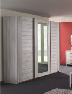 Armoire adulte contemporaine 3 portes VICTORIA