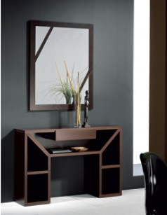 meuble d 39 entr e contemporain karta coloris weng avec miroir en option. Black Bedroom Furniture Sets. Home Design Ideas