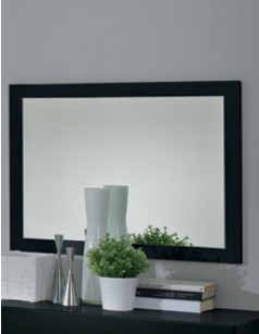 Miroir mural noir laqu design isaline for Miroir noir review