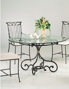 table verre fer forge salle manger. Black Bedroom Furniture Sets. Home Design Ideas