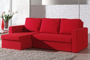 canape convertible microfibre rouge