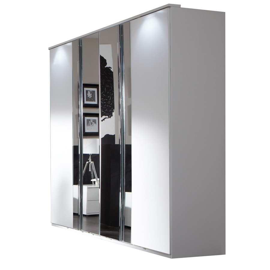 armoire adulte design blanche genny. Black Bedroom Furniture Sets. Home Design Ideas
