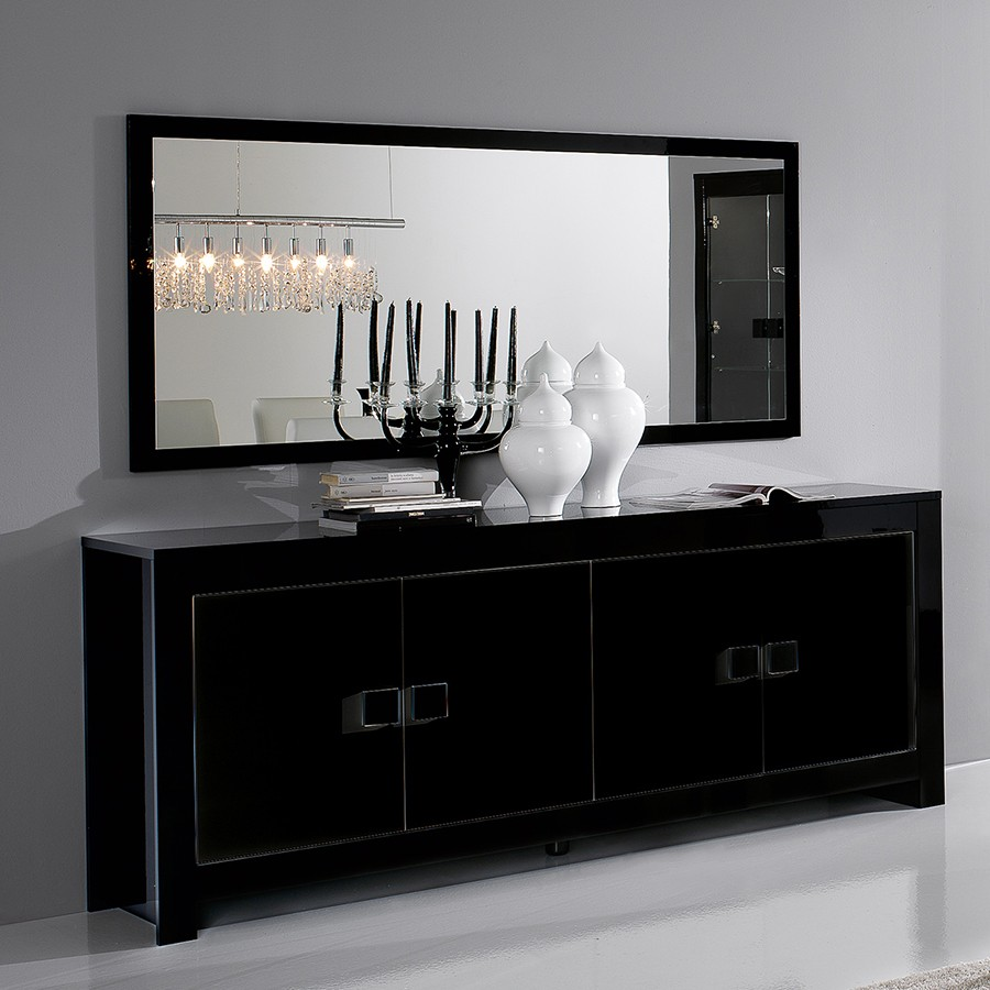 Buffet brun noir black is beautiful with buffet brun noir for Bahut table